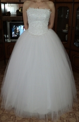 Продаю красивое белое свадебное платье