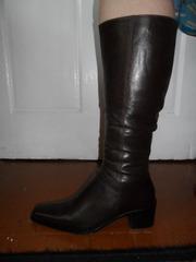 Сапоги осенние женские кожаные р.41-42 новые