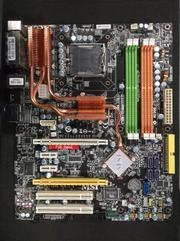 Материнская плата msi ms-7345 p35, 2xpci-e x16 crossfire, intel core 2