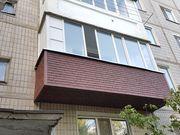 Обшивка балкона сайдингом. .Низкие цены! Скидки! Акции!